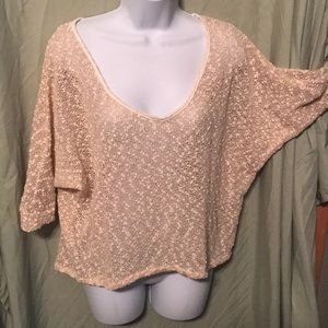 sheer sweater cream with gold thread highlights